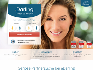 Screenshot Singlebörse eDarling